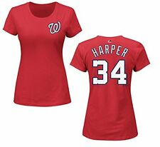 Washington Nationals Bryce Harper Womens Name and Number T-Shirt