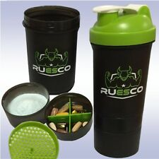 3-IN-1 RUESCO SHAKER CUP (20 OZ + FREE SAMPLE) smart protein blender mixer shake