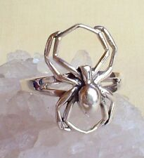 Spider Ring Solid 925 Silver~Pagan~Goth~Gothic~Wicca~Witch~New Pagan Jewellery