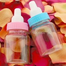 36pcs Mini Baby Bottle Blue/Pink Baby Shower Favours Christening Gift