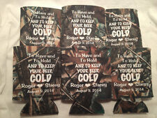 Custom Camo Wedding Koozies Design 1217 25 to 300 Personalized party favors