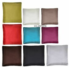 "LUXURY PLAIN FAUX SLIK CUSHION COVERS PILLOW CASE 18"" x18"""