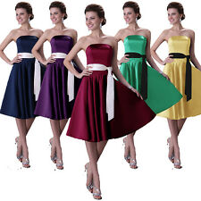 CHEAP Formal evening party Ball Gown Bridesmaid Free Belt + Short Cocktail Dress