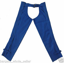 ADULT EQUESTRIAN SUEDE LEATHER FULL LEG HORSE RIDING ADJUSTABLE CHAPS GAITERS