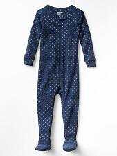 NEW GAP GLITTERY DOT FOOTED SLEEPER PJ'S SIZE 6-12M 2T