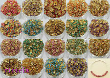Wholesale 50/100Pcs Acrylic Gold Plated Spacer Loose Beads Charms Findings 8mm