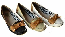 SR-1230 Women Ballet Flat Bow Soft Sole Slip On Comfort shoes Size 6~10
