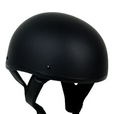 PGR B03 MATTE BLACK Skid Lid Motorcycle DOT Half Helmet Chopper Custom Cruiser
