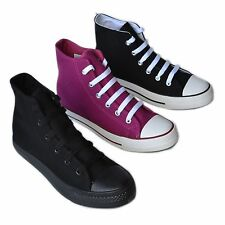 BB-Flower New Women High Top Canvas Sneakers Classic Casual Shoes Size 5~10