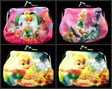 Lot cartoon Tinkerbell Children Coin Purse Wallet Hasp package Party Gift I010