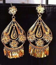 Mexican Filigree Earrings Handmade from Oaxaca Style#MG7912.Aretes de Filigrana.
