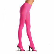 Be Wicked! 620 Tights Opaque Lycra/Spandex Pantyhose One Size: Regular Neon Pink