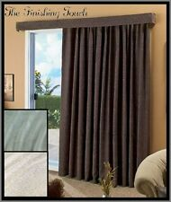 "140"" LOSE The LOUVERS PATIO WINDOW FRENCH DOOR CURTAIN DRAPE PANEL & VALANCE New"