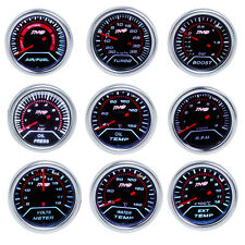 "2"" 52mm LED Car Boost PSI/Water/Oil Temp/Pressure/Tachometer/Volt/AFR/EGT Gauge"