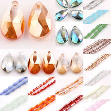 Wholesale 3 Style Faceted Glass Crystal Point Teardrop Pendant Bead More Color