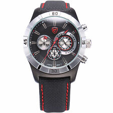 Ganges SHARK Army Military Men Chronograph 24 Hours Quartz Sport Wrist Watch