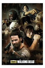 The Walking Dead Collage Poster New - Maxi Size 36 x 24 Inch