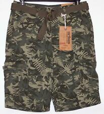 NWT Men's Urban Pipeline Belted Camo Cargo Shorts Classic Length  29 32