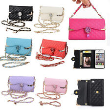 Luxury Bling Diamond PU Leather Flip Wallet Card Holder Handbag Case Cover