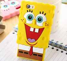 Spongebob Square Pants Cute Silicone Apple iPhone & Samsung S5/6 Case Cover