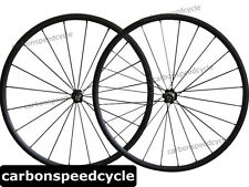2015 24mm Clincher Carbon Road Bicycle wheels Novatec A271SB/F372SB+494 spokes