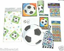 Football Soccer Birthday Party Bags Invitations Plates Cups Tablecover Napkins