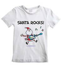 SANTA ROCKS KIDS T-SHIRT -  Father Christmas Gift Present Novelty Claus Children