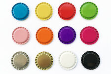 """300 500 1000 1"""" Flat Double Sided Painted Linerless Colors Crafts Bottle Caps"""