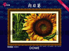 The Brilliant Sunflower- Golden Sparkling Plant @ DOME counted cross stitch kit