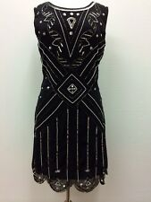 BNWT Gatsby BLACK Dress Tunic Top Evening 1920's Shift Dress Size 8 10 12 14 16