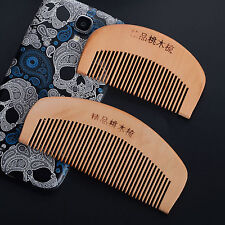 Ebony Natural Wide Tooth Peach Wood Health Anti-static Massage Hair Wood Comb