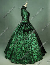 Gothic Victorian Colonial Period Dress Reenactment Clothing Gown Steampunk 119