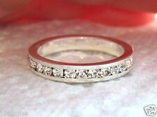 1.80 Ct CZ Eternity Ring Band Sterling Silver .925 40 Round Cut Cubic Zirconia