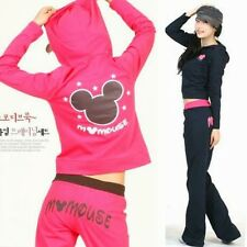 Girls Women's Tracksuit 2 Pieces Hoodies Top Pant Outerwears Suits Mouse Printed