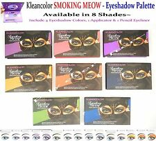 Kleancolor Eyeshadow Palettes- Smoky Eyes- 4 Shadows, 1 Eyeliner, 1 Applicator