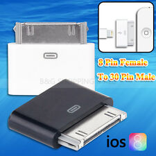 Lightning 8 Pin Female To 30 Pin Male Adapter For iPhone 4S iPad 2 3 iPod Touch