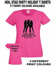 HENS ANGELS Custom Printed Personalised Hen Stag Holiday Party Womens T SHIRT