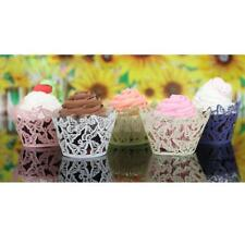 12Pcs Hollow Butterfly Cupcake Wrappers Muffin Cake Lace Wraps Cases Wedding DIY