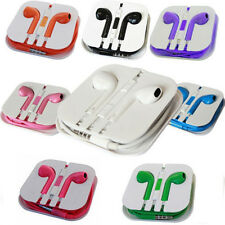 Colors Earphone Headset For Apple iPhone 5 4 6 ipod Earbuds volume control Mic