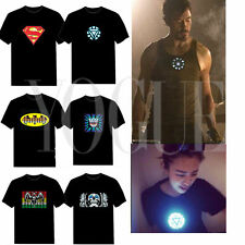 The Avengers Sound-Activated LED Light Up T-Shirt Disco Music Dance Party Flash