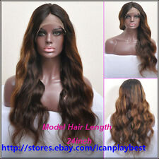 """Sex 18""""-24"""" Long Big Wavy 100% India Human Hair Lace Full Lace/ Front Lace wigs"""