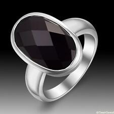 New Gift Woman Jewelry Simple Oval Black Onyx S80 Silver Ring size 789