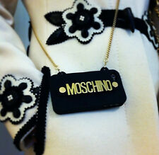 MOSCHINO Letters CrossBody Bag Style Silicon Case With Chain For iPhone5/5s/6/6P