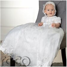 Girls White Christening Gown, Baby Girls Dress, Traditional Christening Outfit