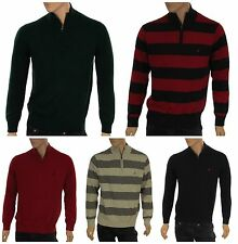 Nautica Men's Long Sleeve Partial Zip Mock Neck Sweater New with Tags