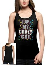 I Love My Crazy Cat Graphic Cool Kitty Lover funny gift Women Tank Top Idea