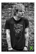 Ed Sheeran In Skull T-Shirt Poster New - Maxi Size 36 x 24 Inch