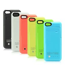 2600mAh iPhone External Battery Charging Case Cover Backup Lid 5 5s 5c