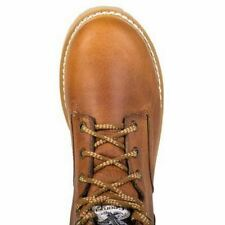 Georgia Mens Barracuda Gold Leather Farm and Ranch Wedge Work Boots G6152