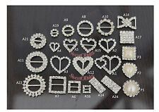 GRADE A DIAMANTE CRYSTAL RIBBON BUCKLE SLIDERS CLUSTER  WEDDING EMBELLISHMENTS